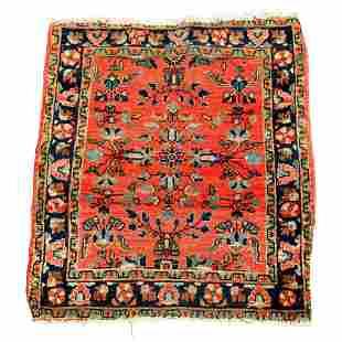 Antique Persian Sarouk Oriental Rug Mat, circa 1920