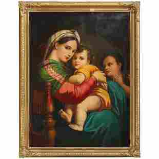 Antique Oil Painting Old Master Copy after Raphael