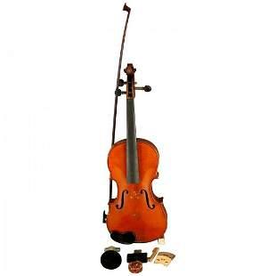 Victorian Tiger Maple Violin & Case, Salvatore Durro