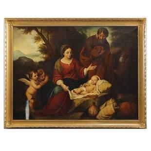 Antique Painting Old Master Copy of Infant Jesus Christ