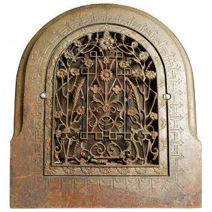 Architectural Cast Iron Aesthetic Foliate Wall Grate