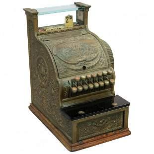 Antique National Candy Store Brass Cash Register, c1900