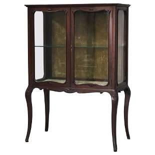 R.J. Horner Louis XV Style Mahogany 2-Door Vitrine