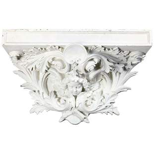 Oversized Architectural Rococo Figural Display Shelf