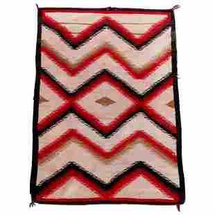 Vintage Ganado School Navajo Rug 58x35 20thC