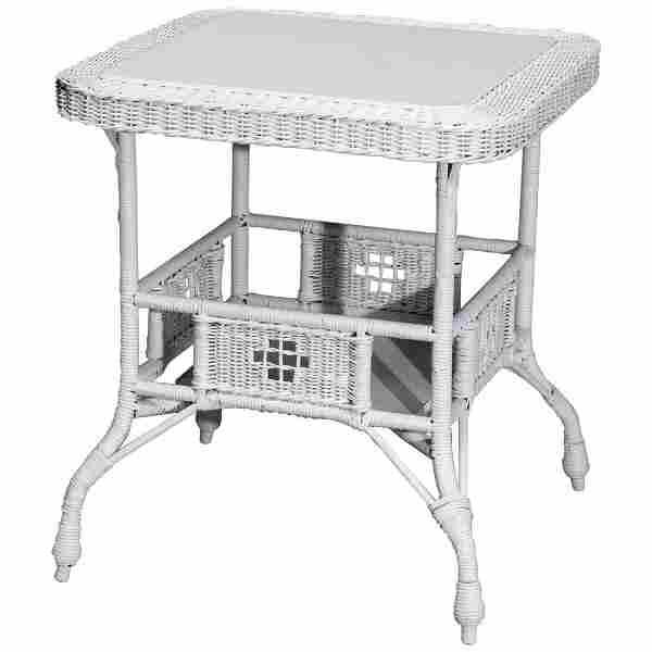 Antique Victorian Heywood Wakefield Wicker Center Table