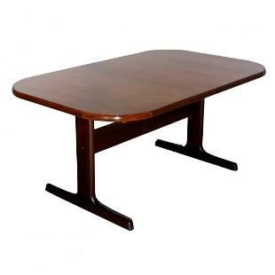 Mid-Century Danish Modern Rosewood Trestle Dining Table