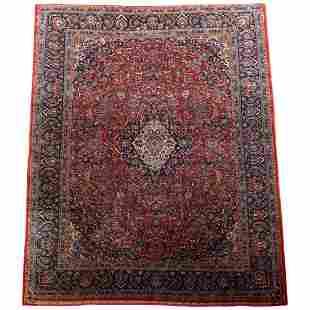 "Sarouk Room Size Oriental Wool Rug 163""x120"", c1930"