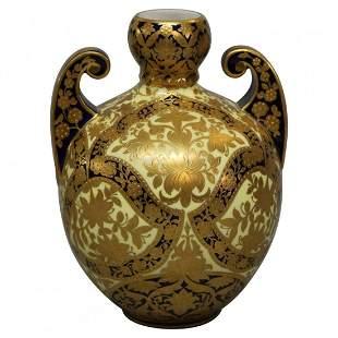 Victorian Egyptian Revival Royal Worcester Vase, c1890