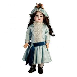 "Antique French Jumeau Eden Bebe Doll, 21""h"