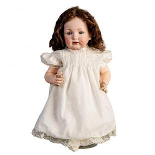 """Antique JDK Toddler 220 Composition Baby Doll, 18.5"""""""