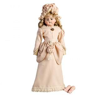 "Antique French Jumeau Bebe Fashion Doll, 22"""