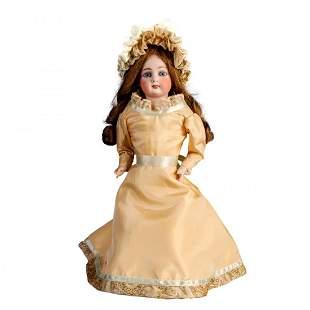 """Antique French Fashion Kid Body Doll, 15.25"""""""