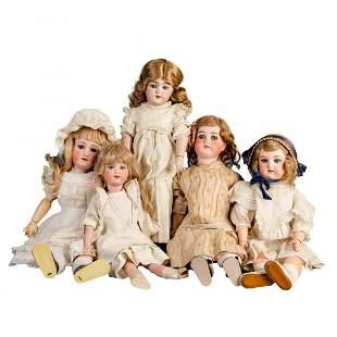 Antique Dolls incl A&M, Handwick, H&W, Germany