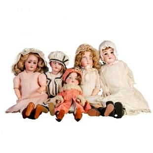Antique Dolls incl Fulper, Handwick, Germany