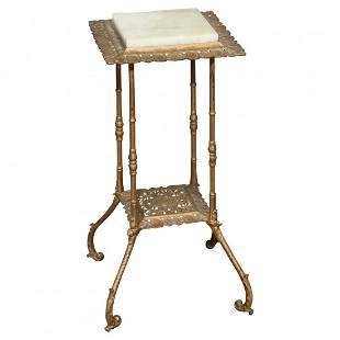 Aesthetic Charles Parker School Onyx & Bronzed Stand