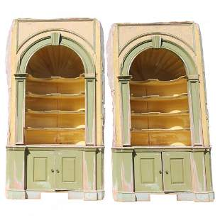 """Lg George III Style Architectural Corner Cabinets 109""""h"""