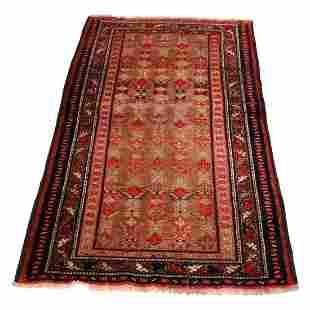 """Antique Kurd Tribal Oriental Wool Rug 78""""x42"""", c1920"""
