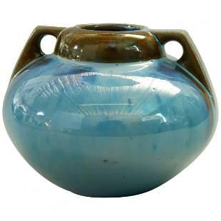 Art Pottery Mirrored Glaze Gourd Form Vase by Fulper
