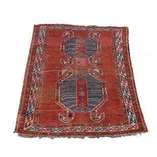 """Antique Caucasian Lenkoran Oriental Rug 77""""x49"""", c1900"""