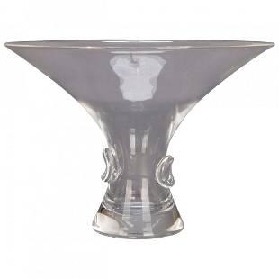 MCM Flared Steuben Art Glass Flared Vase