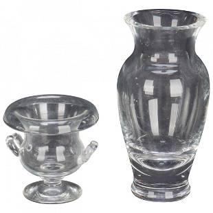 2 Steuben Glass Works Art Glass Vases, 20th C