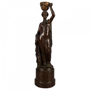 French L.V. Elias Robert Figural Bronze Sculpture