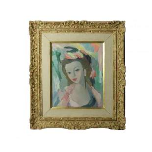 Oil Painting O/C Portrait of A Woman, Signed Laurencin