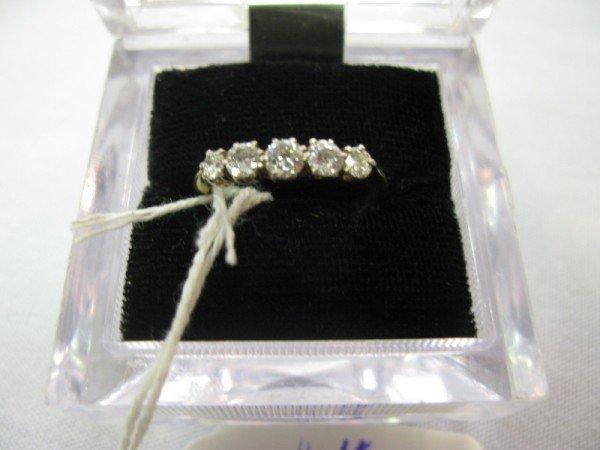 11: 18K GOLD & PLATINUM RING SET WITH DIAMONDS