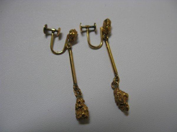 16: PAIR OF GOLD  EARRINGS