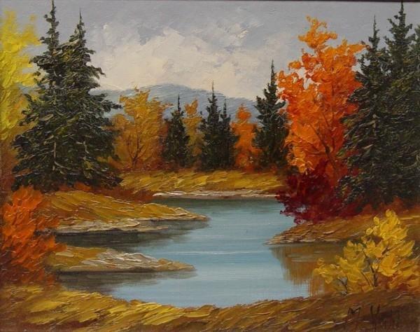 159: OIL ON BOARD, M. VAHL, CANADIAN