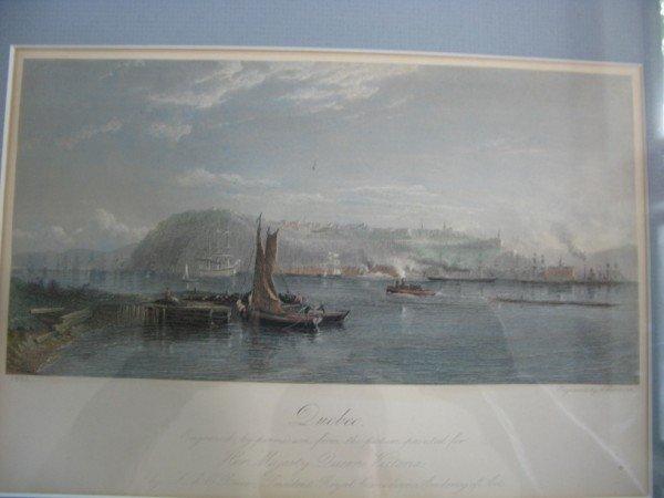 """18: ENGRAVED AQUATINT BY L. R. O' BRIEN, """"QUEBEC"""", 1882"""