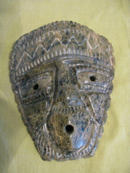 6: INUIT STONE CARVING OF A TRIBAL MASK