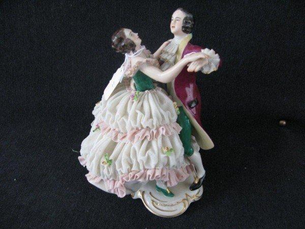 11: 20TH C. GERMAN PERIOD FIGURE OF COUPLE DANCING,