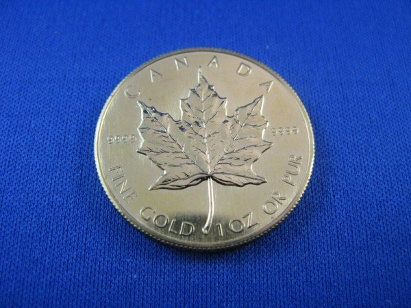 91A: CANADIAN MAPLE LEAF FIFTY DOLLAR GOLD COIN