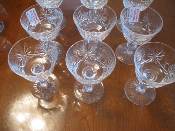 12C: NINE CRYSTAL DESSERT GLASSES