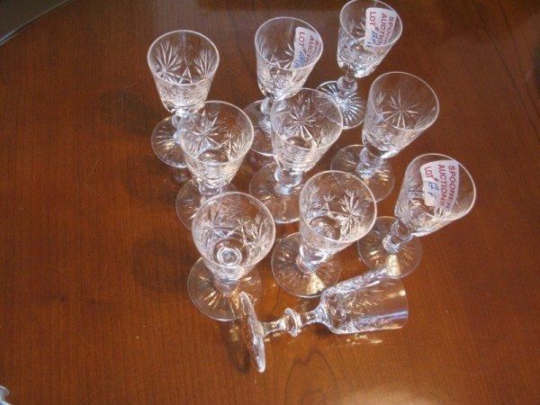 12F: TEN CRYSTAL LIQUEUR GLASSES