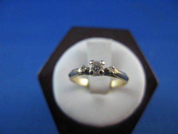 1: 14K DIAMOND ENGAGEMENT RING