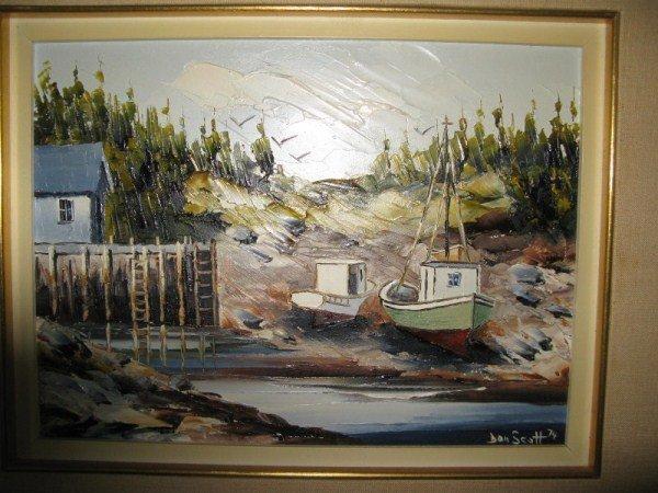 37: OIL ON BOARD - DAN SCOTT