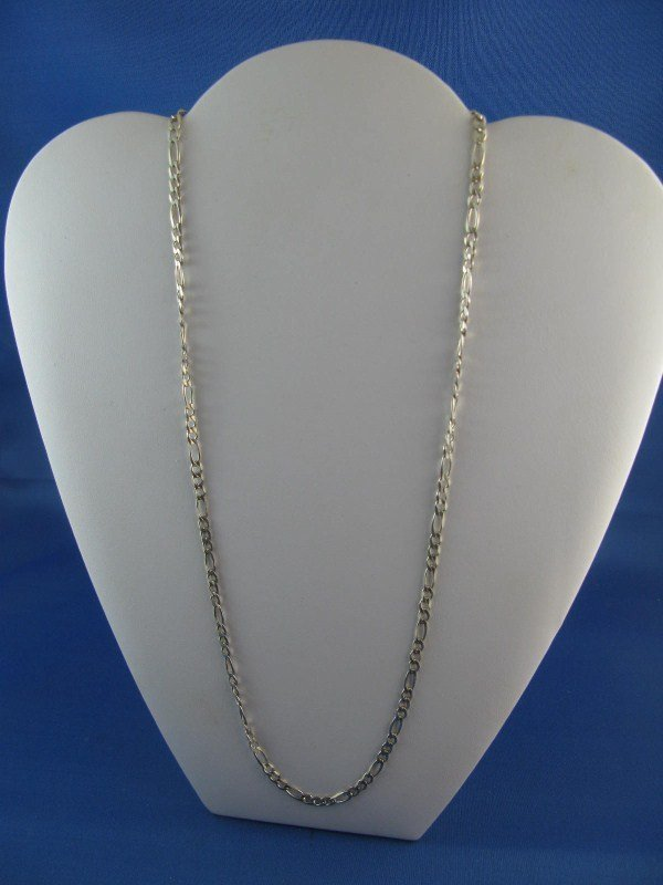 3A: STERLING SILVER CUT LINK CHAIN