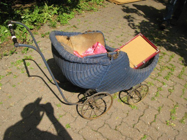 3: TURN OF THE CENTURY WICKER BABY CARRIAGE