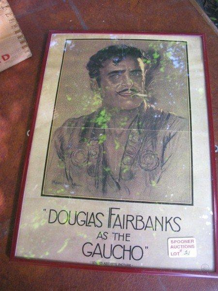 21: UNITED ARTISTS POSTER OF DOUGLAS FAIRBANKS