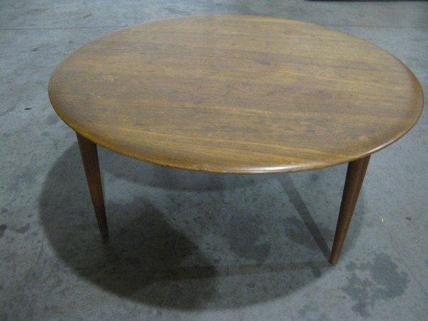16A: ROUND DANISH TEAK COFFEE TABLE