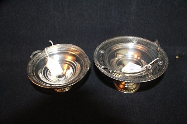 1: TWO STERLING SWEETMEAT BASKETS
