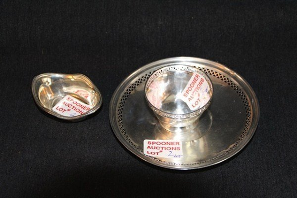 2: STERLING SAUCER AND BOWL PLUS MINT DISH