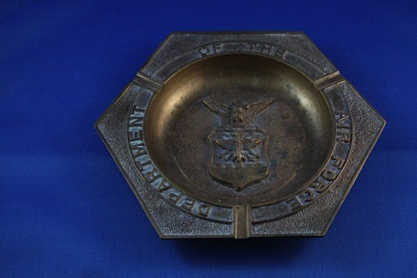 3: HEAVY COPPER ASHTRAY - DEPARTMENT OF THE AIR FORCE