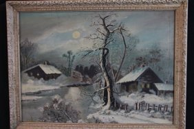 10: OIL ON BOARD 19TH CENTURY - UNSIGNED