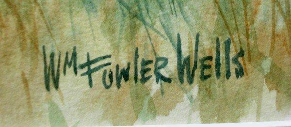 104A: WATERCOLOUR-WILLIAM FOWLER WELLS - 2