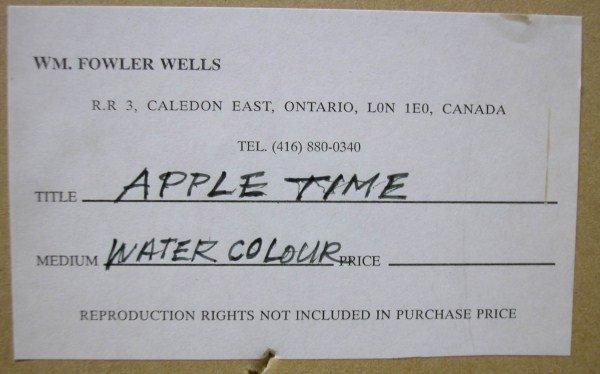 104A: WATERCOLOUR-WILLIAM FOWLER WELLS - 3