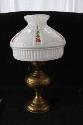 5A: ALADDIN BRASS MANTLE LAMP MODEL NO. 6